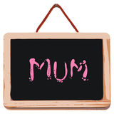 Small black board with word mum Stock Photo