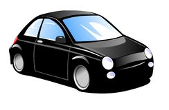 Small Black Car Stock Photo