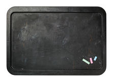 Small black chalkboard isolated. Royalty Free Stock Image