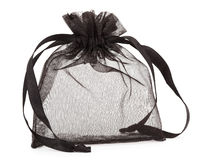 Small black gauze present bag Stock Photo