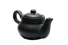 Small black kettle on a white Stock Photos