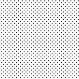 Small Black Polka Dots, White Background Stock Photo