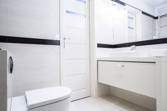 Small black and white bathroom Stock Image