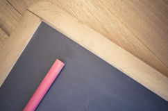 small blackboard with chalk close up Royalty Free Stock Images