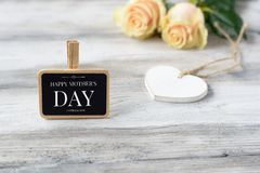 Small blackboard with  Happy Mother's Day inscription Royalty Free Stock Images