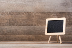 Small blackboard with large space for your copy text Royalty Free Stock Photo