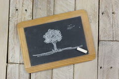 Small blackboard with white chalk Stock Images