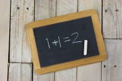 Small blackboard with white chalk Stock Photo