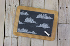 Small blackboard with white chalk Royalty Free Stock Images