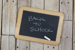 Small blackboard with white chalk Royalty Free Stock Photography