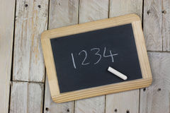 Small blackboard with white chalk Stock Image