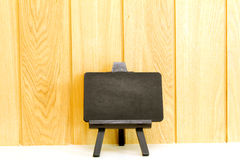 Small blank blackboard on easel with large space Stock Images