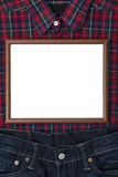 Small blank whiteboard above gifts for father Royalty Free Stock Images