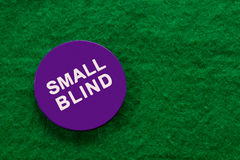 Small blind chip for poker Stock Images