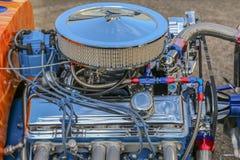 Small Block Performance V-8. Small block American V-8 motor with Holly carburetor Stock Photo