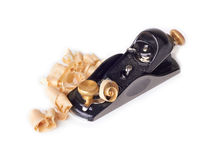 Small Block Plane and shavings Royalty Free Stock Photos