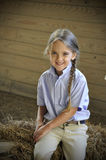 Small blond hair girl Royalty Free Stock Images