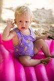 Small blonde baby girl Stock Photos
