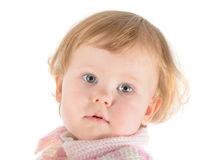 Small blonde baby portrait Royalty Free Stock Photo