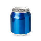 Small blue aluminum can  Royalty Free Stock Photography