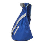 Small blue backpack Royalty Free Stock Images