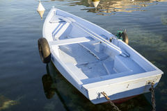 Small blue boat Royalty Free Stock Image