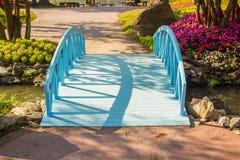 Small blue bridge royalty free stock photos