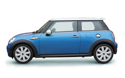 Small Blue Car Royalty Free Stock Photos