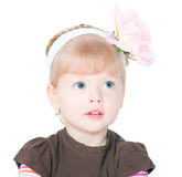 The small blue-eyed girl Royalty Free Stock Photography