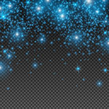 Small Blue Falling Sparkles Royalty Free Stock Photography