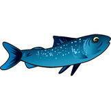 Small blue fish Royalty Free Stock Images