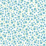 Small blue flowers seamless pattern Stock Photos