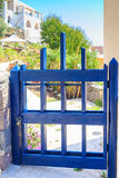 Small blue gate Royalty Free Stock Photo