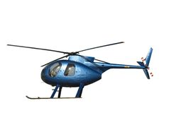 Small blue helicopter Royalty Free Stock Image