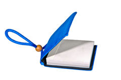 Small blue notebook Stock Image