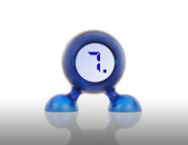 Small blue plastic object with a digital display Royalty Free Stock Images