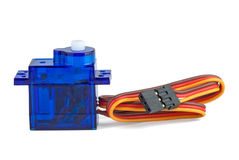 Small blue servo-unit for RC Stock Image