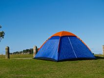 Small blue tent. Stock Photography