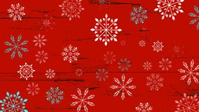 Small blue and white snowflakes on a red background. Can be used as background or wallpaper or for other possibilities or to modify to your taste royalty free illustration