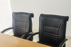 Small boardroom. Empty office boardroom with new modern office furniture Stock Photos