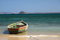 Small boat. On the beach in northern Madagascar Stock Images