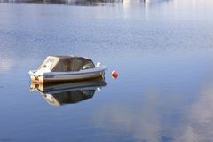 Small boat, Alta, Norway Royalty Free Stock Images