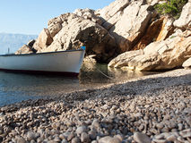 Small boat on the beach Royalty Free Stock Photo