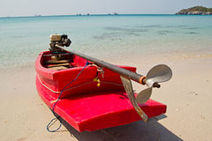 Small boat on beach Stock Image