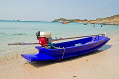 Small boat on beach Royalty Free Stock Photos