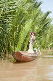 Small Boat from Ben Tre Province Royalty Free Stock Photos