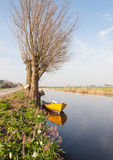 Small boat on a canal Stock Photography