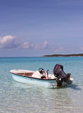 Small boat in the Caribbean Stock Images