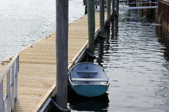 Small Boat at a Dock Royalty Free Stock Photo