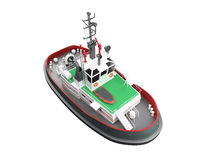 Small boat front view. Isolated small boat over white stock illustration